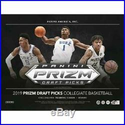 2019-20 Panini Prizm Collegiate Basketball Hobby Box Sealed PRE ORDER 10/16/19