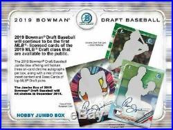 2019 BOWMAN DRAFT JUMBO Baseball Hobby sealed Box Presell 12/04