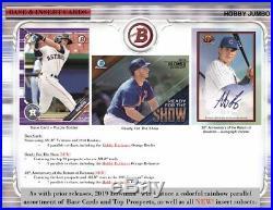 2019 Bowman Baseball Factory Sealed Jumbo HTA Box Pre-Sell 3 AUTOS 4/17/19