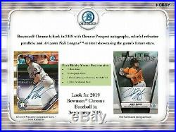 2019 Bowman Chrome Baseball Factory Sealed Hobby Box 2 Autos PRE-SELL 9/18/19