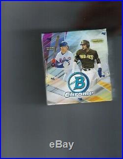 2019 Bowman Chrome Baseball Sealed Hobby Box