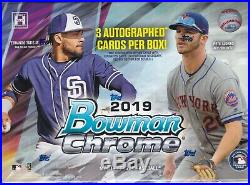 2019 Bowman Chrome HTA Choice Hobby Box Factory Sealed
