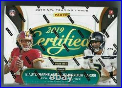 2019 Panini Certified Football Sealed Hobby Box