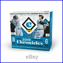 2019 Panini Chronicles Baseball MLB FOTL 1st Off The Line HTF 3 Sealed Boxes