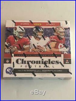 2019 Panini Chronicles Football Factory Sealed Hobby Box