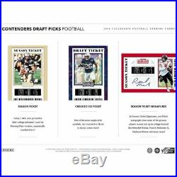 2019 Panini Contenders Draft Picks Collegiate Football Hobby Sealed Box