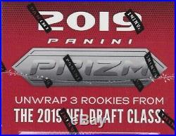 2019 Panini Prizm Football sealed blaster box 6 packs 4 NFL cards 1 memorabilia