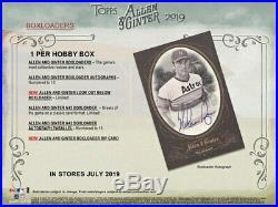 2019 Topps Allen & Ginter Baseball (07/17) Sealed Hobby Box 24 Packs 3 Hits