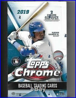 2019 Topps Chrome Baseball Factory Sealed Hobby Box 2 Autos
