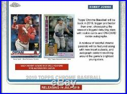 2019 Topps Chrome Baseball Factory Sealed Hobby Jumbo HTA Box