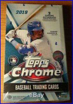 2019 Topps Chrome Baseball Factory Sealed Unopened Hobby Box 24 Packs