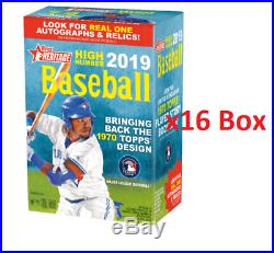 2019 Topps Heritage High Number Baseball Blaster 16 Box Case FACTORY SEALED