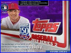 2019 Topps Series 2 Baseball Factory Sealed HTA Jumbo Box LIVE