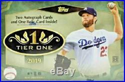 2019 Topps Tier 1 One Baseball Factory Sealed Hobby Box