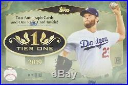 2019 Topps Tier One Baseball Factory Sealed Hobby Box