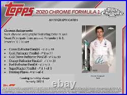 2020 2021 Topps Formula 1 Chrome Racing Hobby Box New Sealed Free Shipping