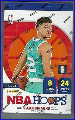 2020-21 Panini NBA Hoops Basketball Hobby Box Factory Sealed