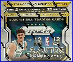 2020-21 Panini Prizm Basketball Factory Sealed Unopened Hobby Box 12 Packs