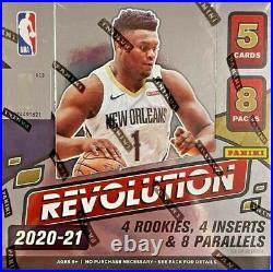 2020-21 Panini Revolution Basketball Factory Sealed Hobby Box