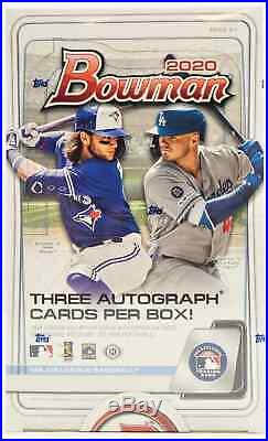 2020 Bowman Baseball Hta Jumbo Box New Factory Sealed Sealed Free Shipping