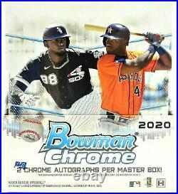 2020 Bowman Chrome Baseball Factory Sealed Hobby Box 2 Autos