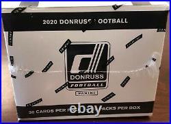 2020 DONRUSS Football Cello/Fat Pack Box- New Sealed- Herbert, Burrow, Tua RC