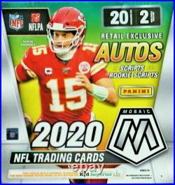 2020 Panini Mosaic Football NFL Mega Box Walmart Exclusive Factory Sealed