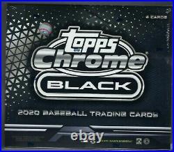 2020 Topps Chrome Black Hobby Baseball Box Factory Sealed