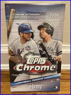 2020 Topps Chrome Mlb Baseball Hobby Box Sealed 2 Autos Robert Bichette Lux Rc