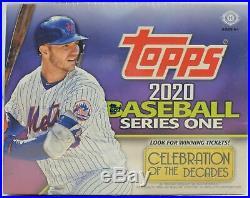 2020 Topps Series 1 Baseball Factory Sealed HTA Hobby Jumbo Box