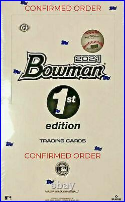 2021 Bowman 1st Edition Sealed Box (24 Packs) CONFIRMED