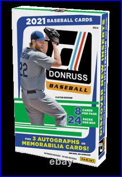 2021 Donruss Baseball Factory Sealed Hobby Box