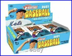 2021 Topps Heritage Baseball Baseball Factory Sealed Hobby Box Real One Auto