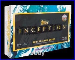 2021 Topps Inception Baseball Factory Sealed Hobby Box