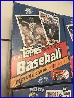 (4) 1993 Topps Baseball Series 1 Factory Sealed Box Jeter RC