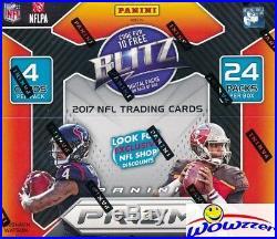 (4) 2017 Panini Prizm Football Factory Sealed 24 Pack Retail Box! SUPER HOT