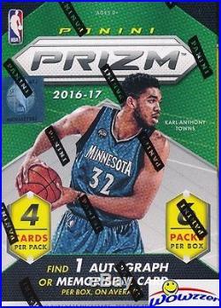 (5) 2016/2017 Panini Prizm Basketball Factory Sealed Blaster Box-5 AUTOGRAPH/MEM