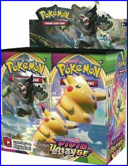 AUTHENTIC SWSH Vivid Voltage SEALED Booster Box (36 Packs of Pokemon Cards)