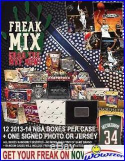 Freak Mix Sealed CASE-12 2013/14 Panini NBA HOBBY Box+GIANNIS ANTETOKOUNMPO AUTO