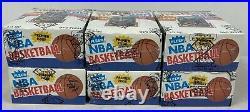 Lot of (6) 1986-87 Fleer Basketball BBCE Sealed Wax Pack Boxes Michael Jordan RC