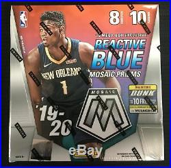 New 2019-20 Panini Mosaic Mega Box 80 NBA Cards Sealed! Nunn, ZION Morant