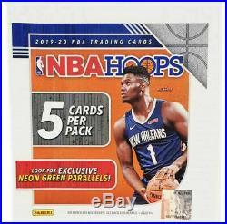 Panini Hoops 2019 2020 Sealed Box NBA 48 Packs Basketball Cards Neon Green
