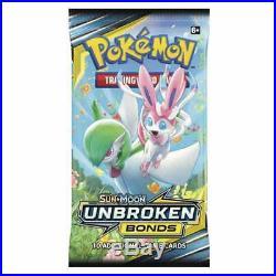 Pokemon Unbroken Bonds Sealed Booster Box of 36 Packs TCG Cards Sun & Moon